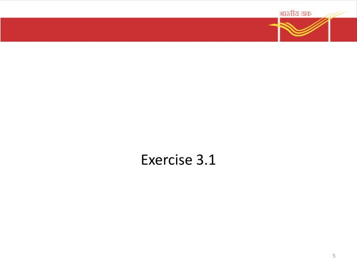 Exercise 3.1