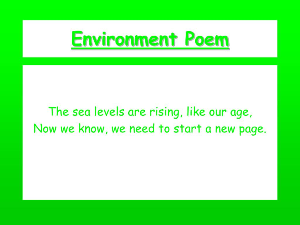 Ppt Environment Poem Powerpoint Presentation Free