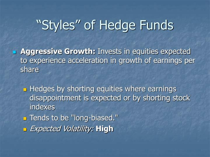 """Styles"" of Hedge Funds"