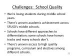 challenges school quality