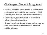 challenges student assignment
