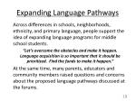 expanding language pathways