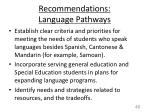 recommendations language pathways