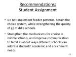 recommendations student assignment