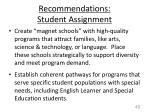 recommendations student assignment1