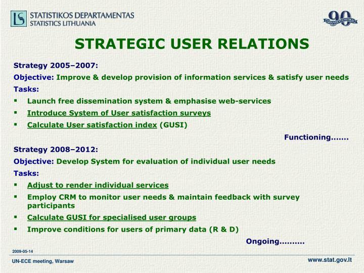 Strategic user relations