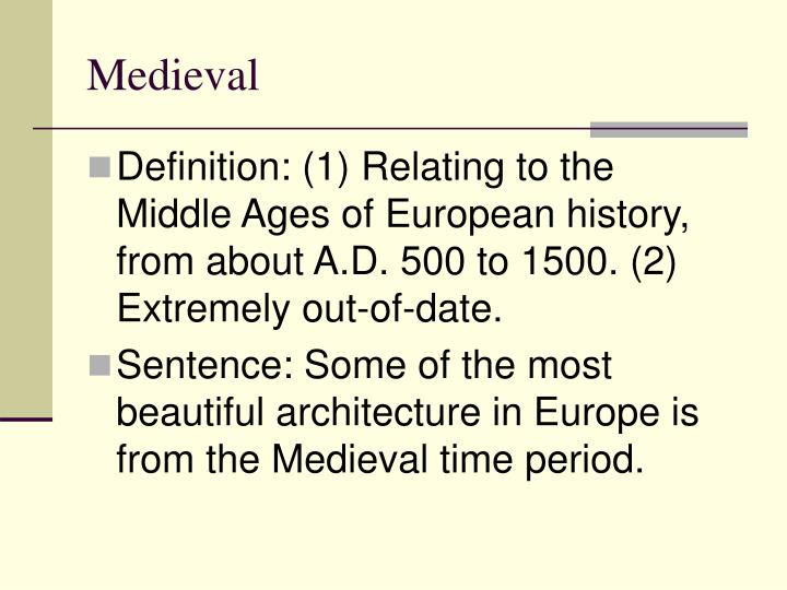 an analysis of the medieval time period Medieval japan (1185-1600) with its feudal structures offers a striking contrast to the earlier classical period of japanese history: warfare and destruction characterize the medieval era in which samurai warriors became the rulers of the land.