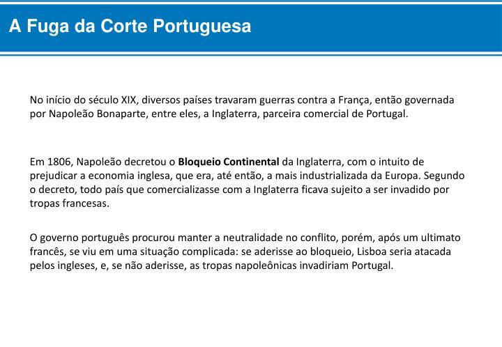 A Fuga da Corte Portuguesa
