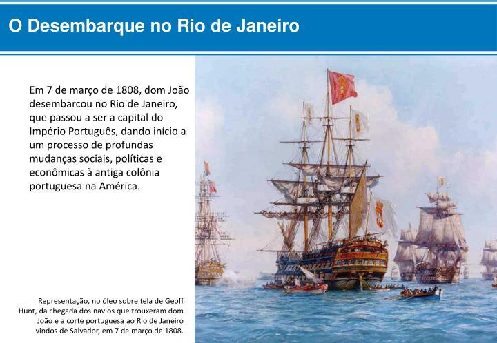 O Desembarque no Rio de Janeiro