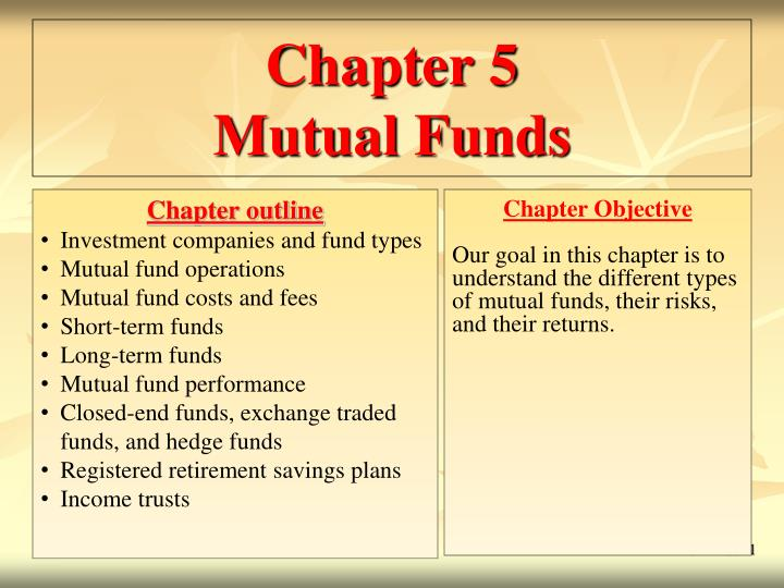PPT - Chapter 5 Mutual Funds PowerPoint Presentation - ID
