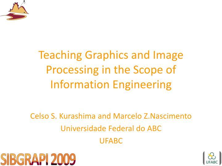 teaching graphics and image processing in the scope of information engineering n.