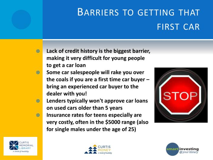 Lack of credit history is the biggest barrier, making it very difficult for young people to get a car loan