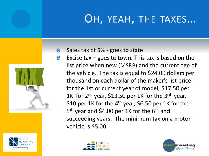 Oh, yeah, the taxes…