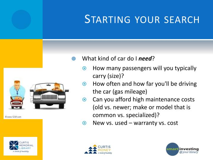 Starting your search