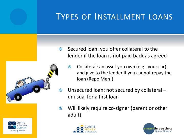 Types of Installment loans