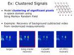 ex clustered signals