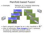 manifold based fusion