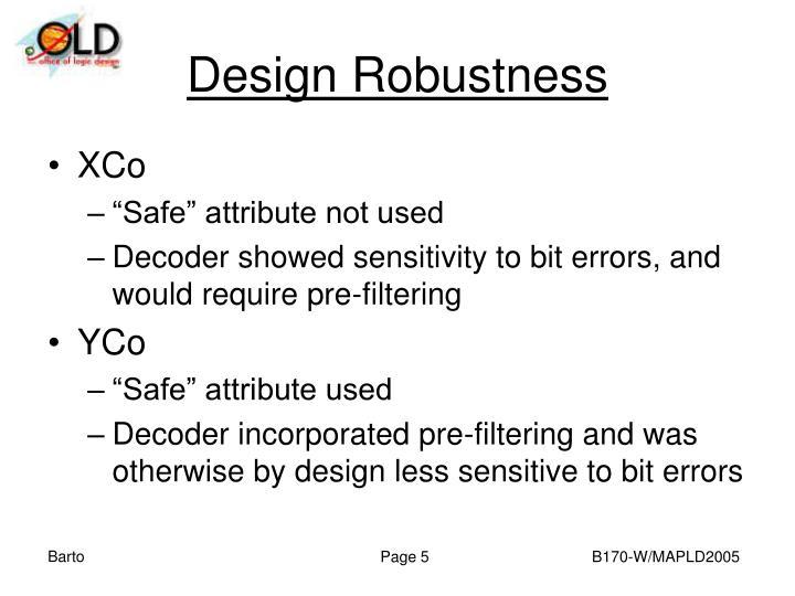 Design Robustness