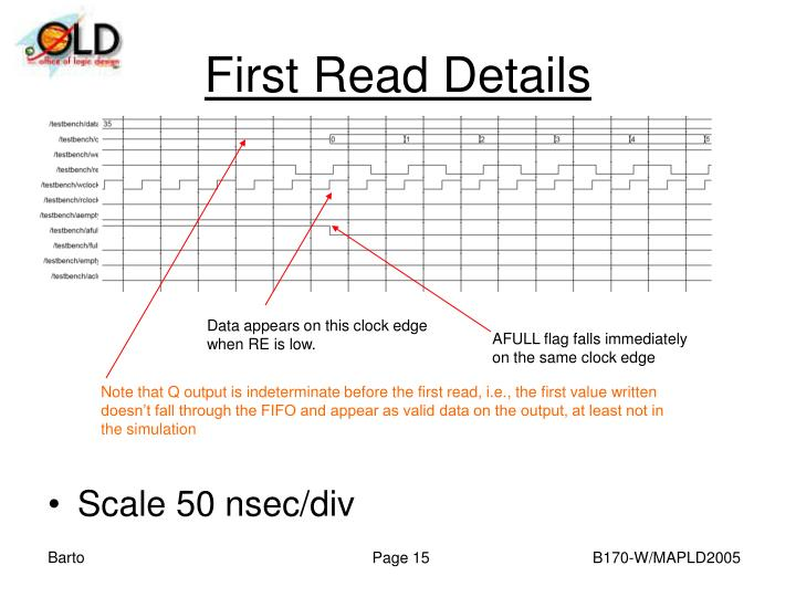 First Read Details