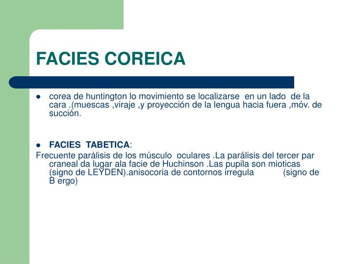 FACIES COREICA