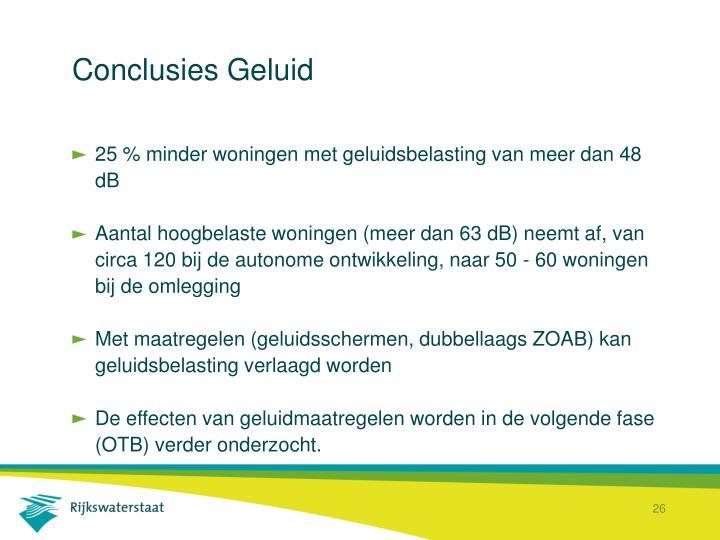 Conclusies Geluid