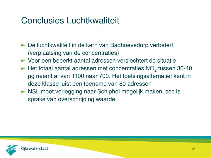 Conclusies Luchtkwaliteit