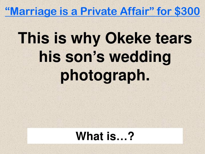 marriage is a private affair sparknotes