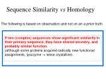 sequence similarity vs homology