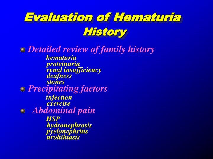 Evaluation of Hematuria