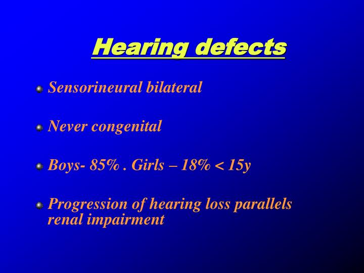 Hearing defects