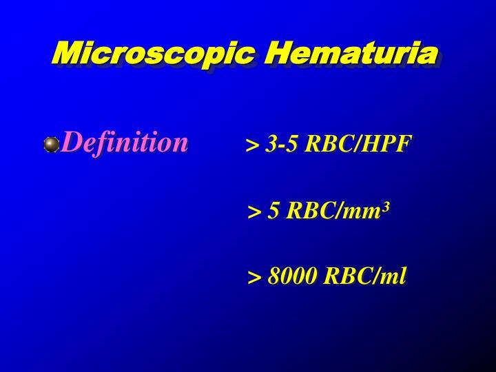 Microscopic Hematuria