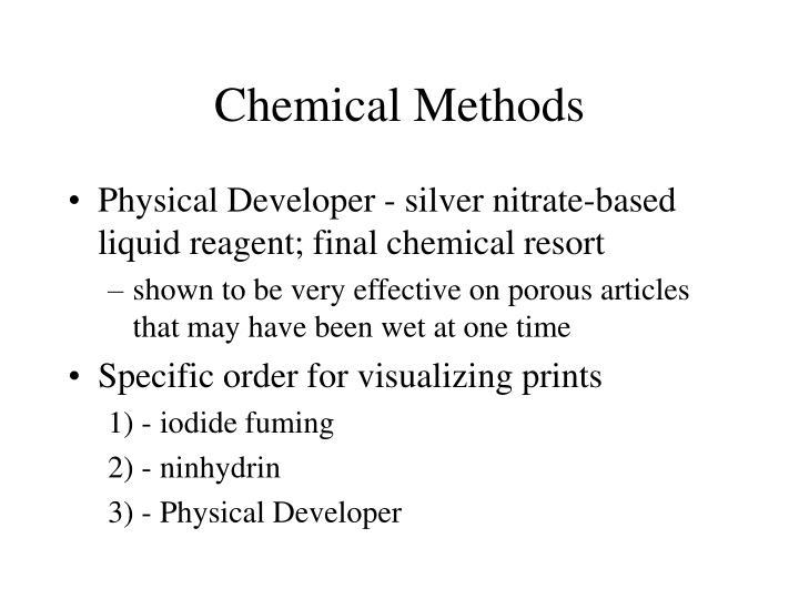Chemical Methods