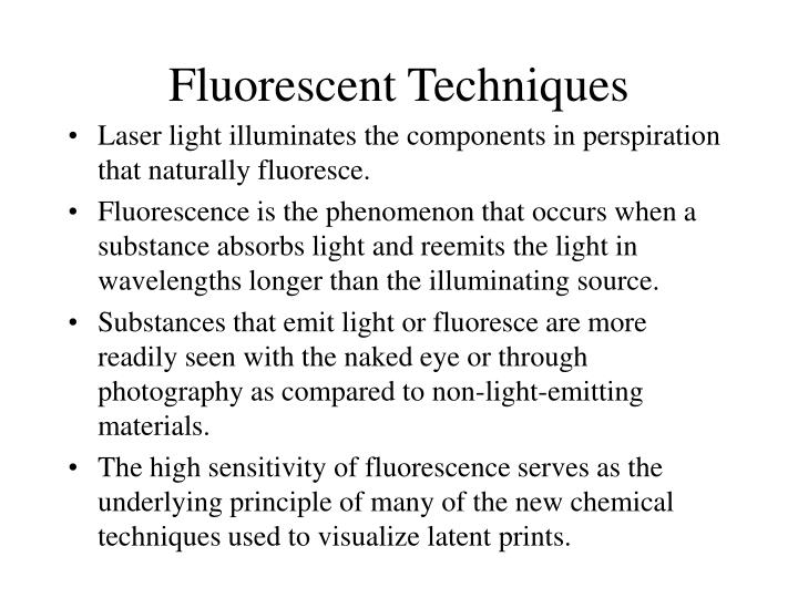 Fluorescent Techniques
