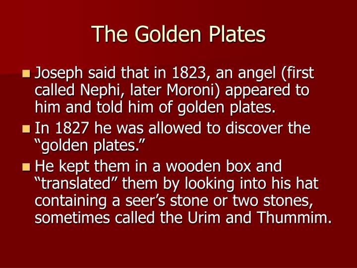 The Golden Plates