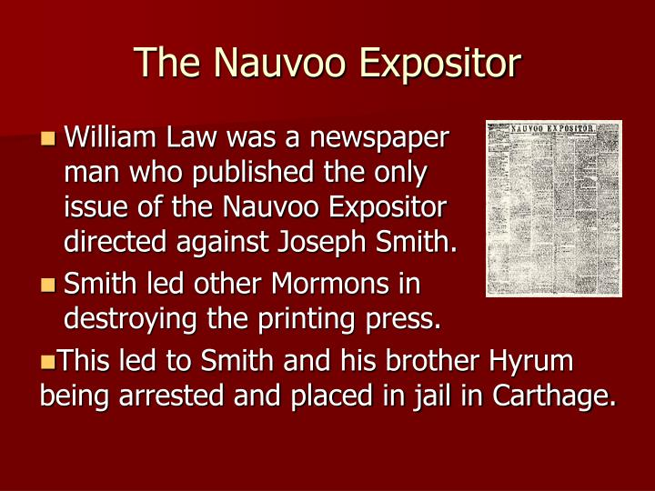 The Nauvoo Expositor