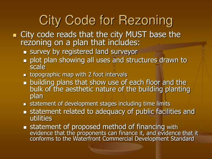 City Code for Rezoning