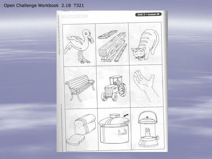 Open Challenge Workbook  2.18  T321
