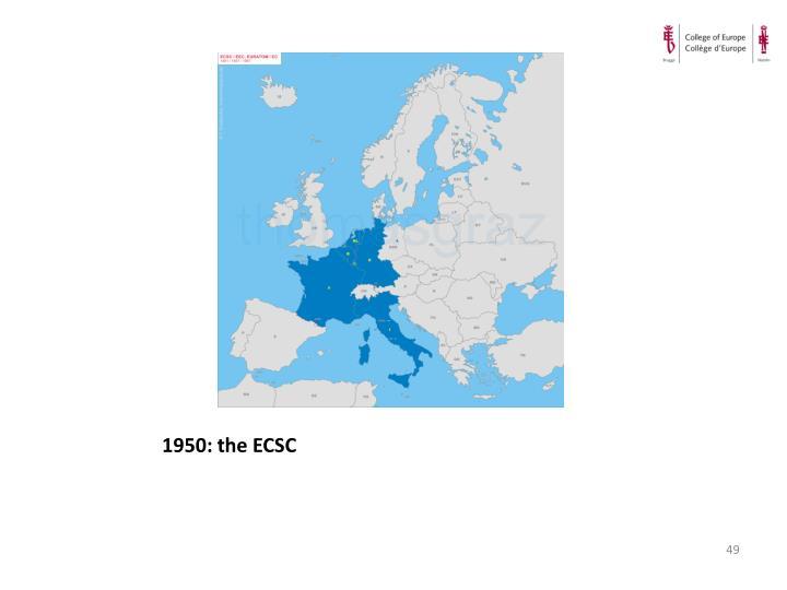 1950: the ECSC