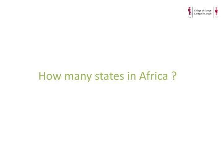 How many states in Africa ?