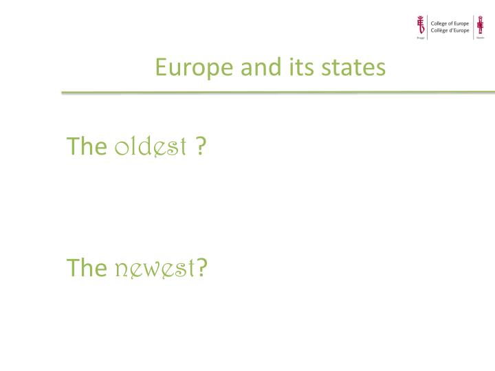 Europe and its states