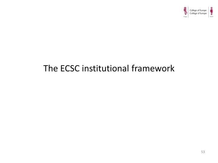 The ECSC institutional framework