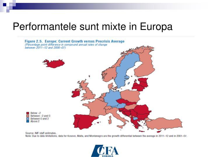 Performantele sunt mixte in Europa