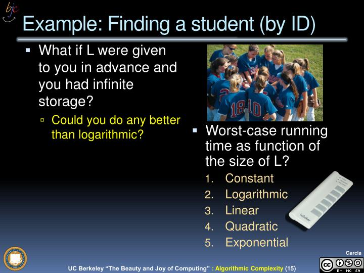 Example: Finding a student (by ID)