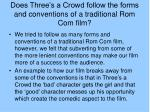 does three s a crowd follow the forms and conventions of a traditional rom com film