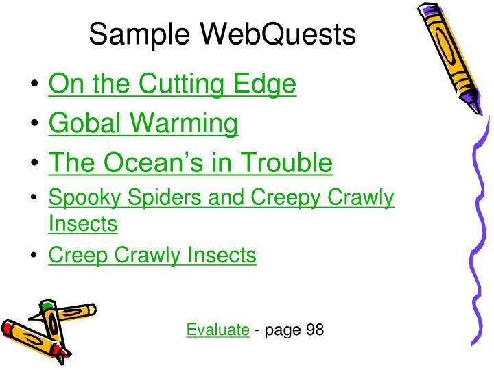 Sample WebQuests