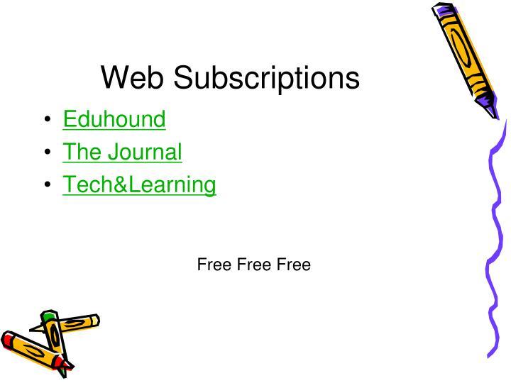 Web Subscriptions