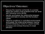 objectives outcomes