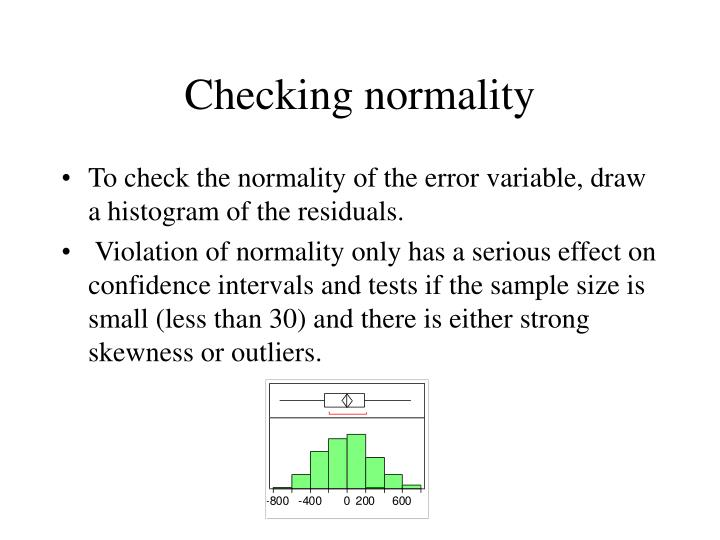 Checking normality