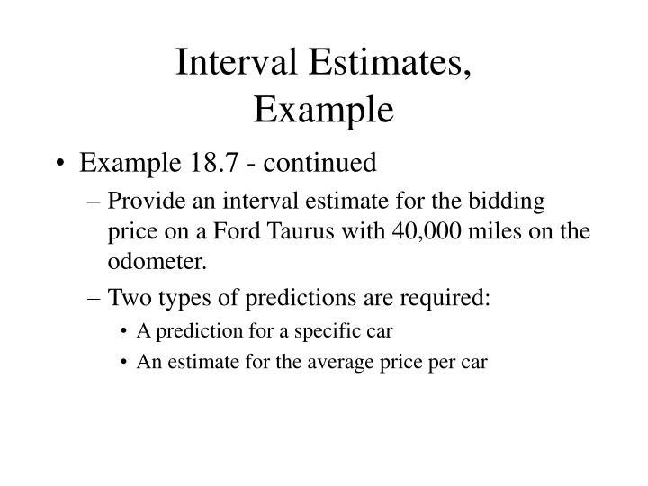Interval Estimates,