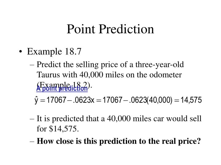 Point prediction